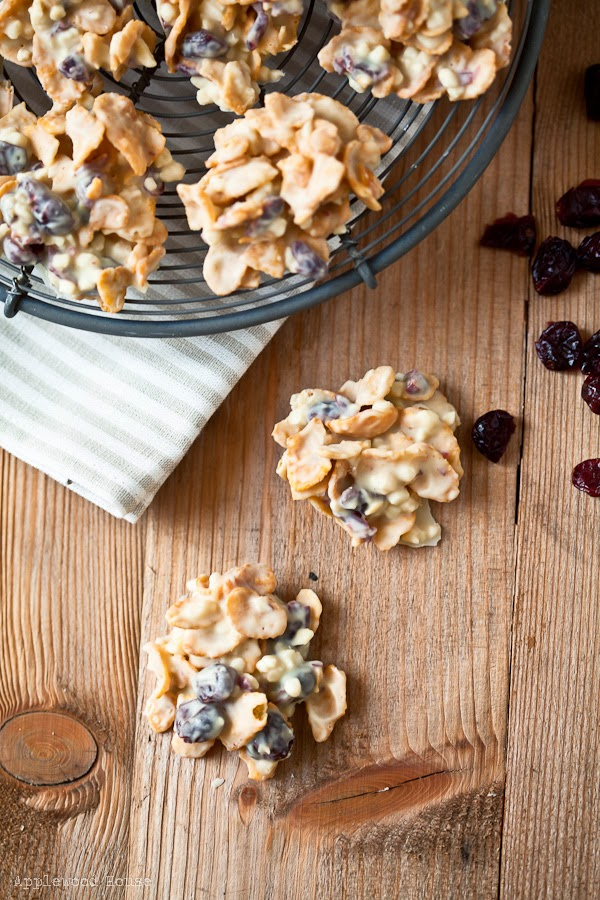 Schokocrossies selbstgemacht weisse Schokolade Cranberries Mandeln