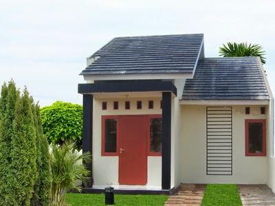 Desain rumah tipe 21 modern