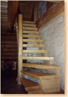 escalera rustica: