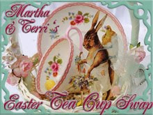 Terri & Martha's Easter Tea Cup Swap