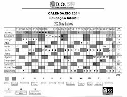 Calendário 2014 Educação Infantil