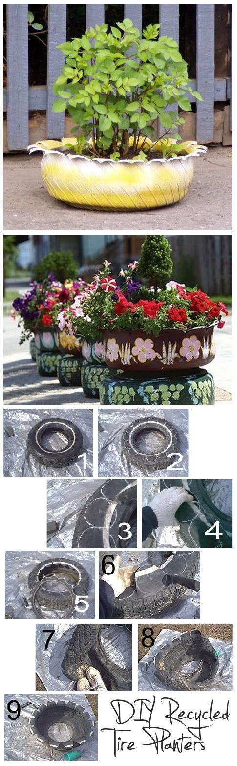 Best Way To Recycling Tire For Gardening