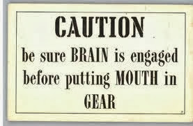 engage brain before mouth