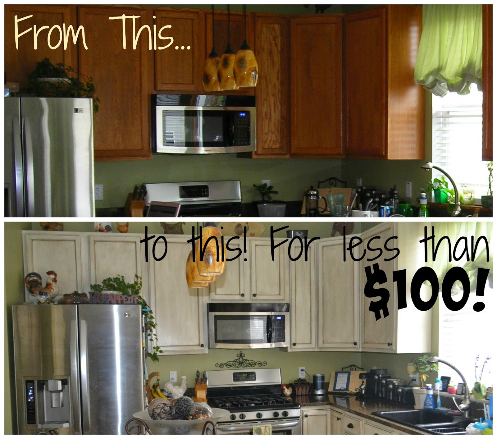 Thrifty Artsy Girl: White Glazed Cabinet Transformations: A Review a ...