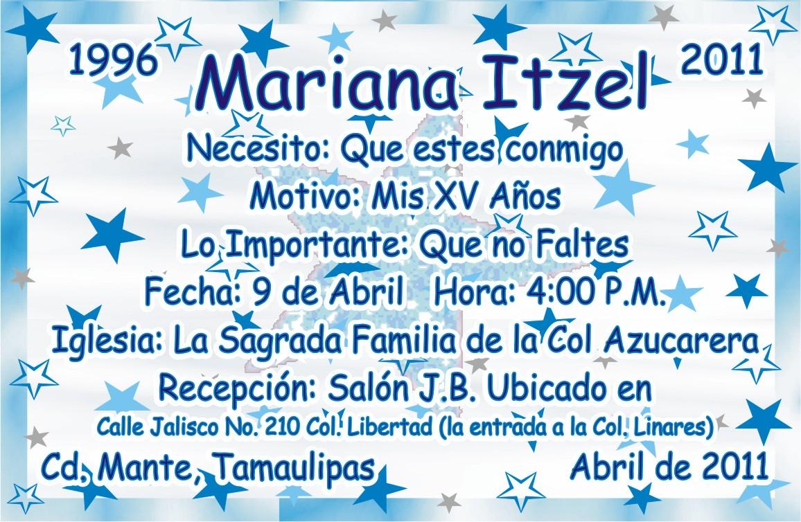 Impresiones Marnel Cd Mante Invitacion Xv A 209 Os Estrellas