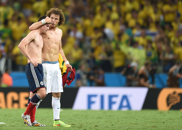 Emoção com David Luiz e James Rodríguez