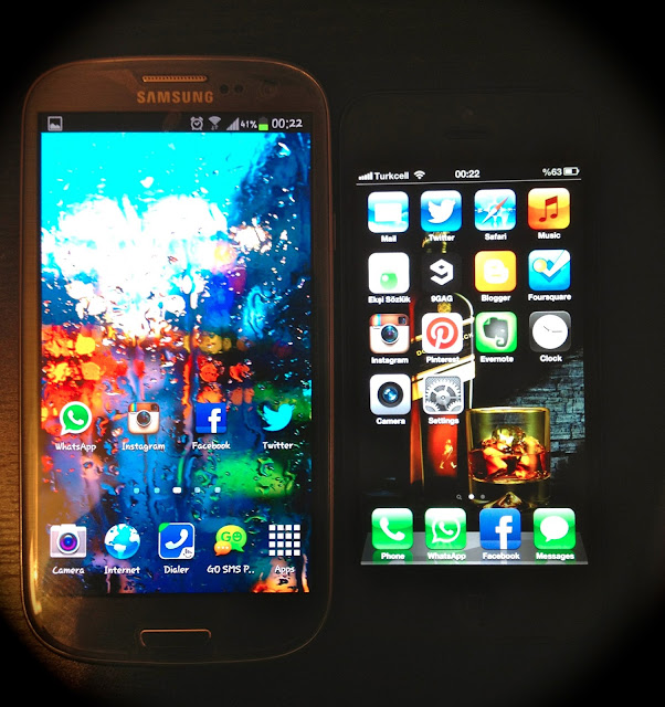 samsun_galaxy_s3_iphone5_önden_gorunus_front