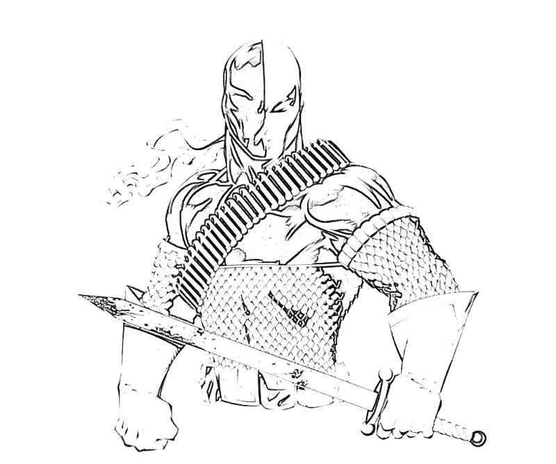 coloring pages of deathstroke injustice - photo#6