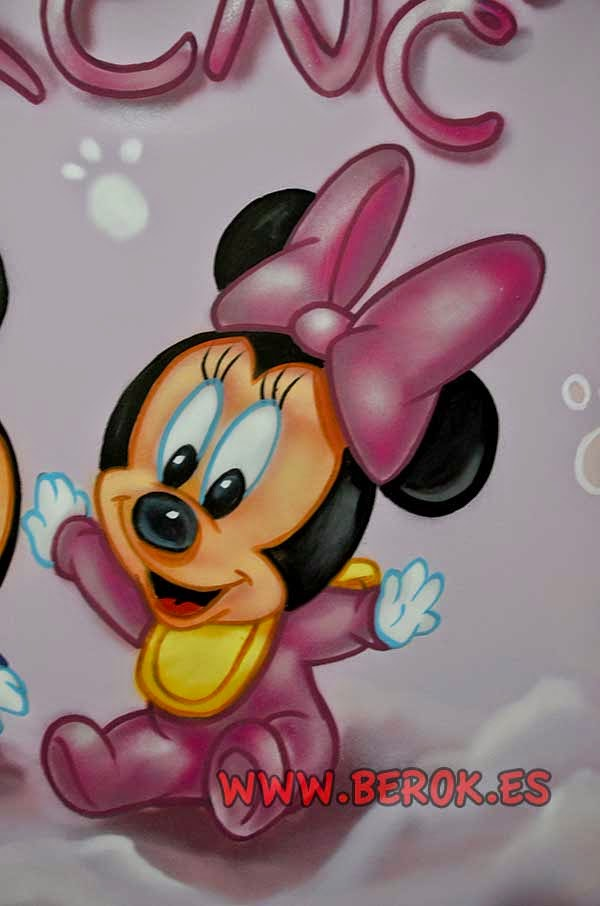 Murales decorativos Minnie Mouse bebé