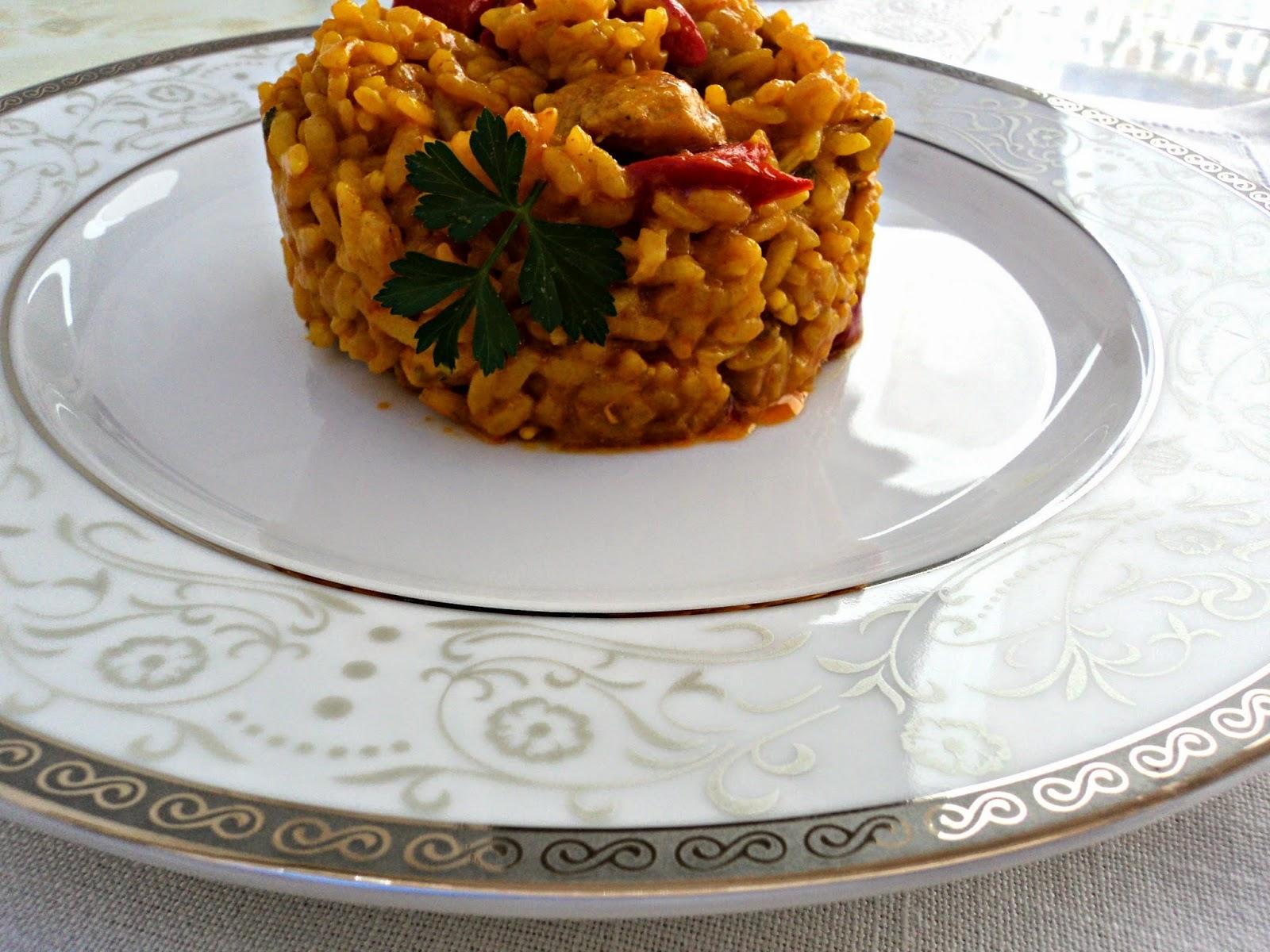 receta casera arroz con pinchitos rápida