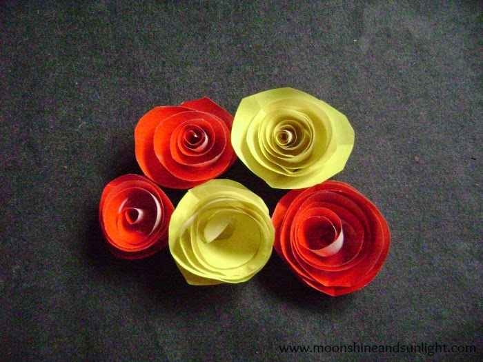 Glossy Spiral Rose step by step tutorial