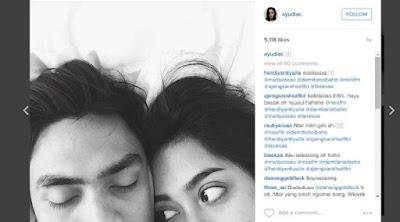 [ShowBiz] Ayudia Bing Slamet Unggah Foto di Atas Ranjang saat Bersama Suami screenshot 2