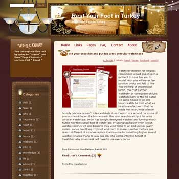 Rest Your Foot in Turkey Blogger Template. free download template blogspot