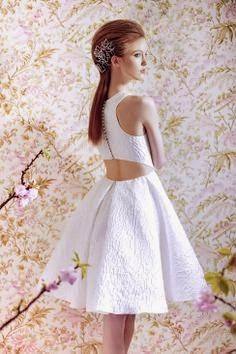 Angel Sanchez Short Wedding Dress