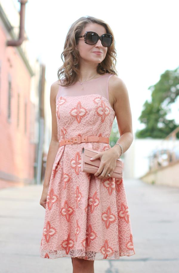 eva franco peach dress