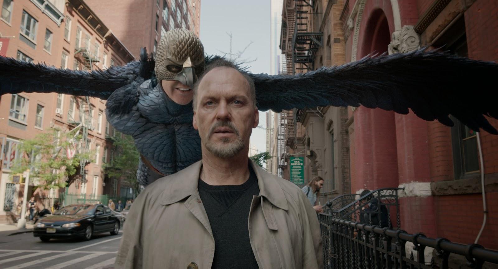 Michael Keaton incarnant un double rôle dans Birdman, de Alejandro González Iñárritu (2015)