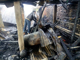 House gutted by fire in Rangu Valley