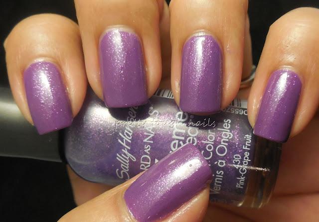 Bettina Purple With Sally Hansen Pink Grape-Fruit