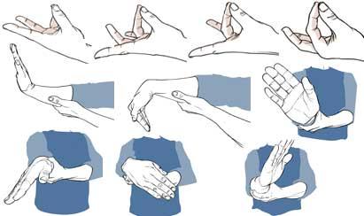 curvo masaje trabajo de mano