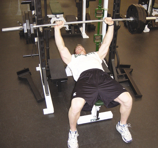 Bench Press Person: EMU 50 Days Of Good Health