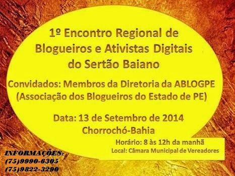 1º Encontro de Blogueiros e donos de site e radios do sertão baiano