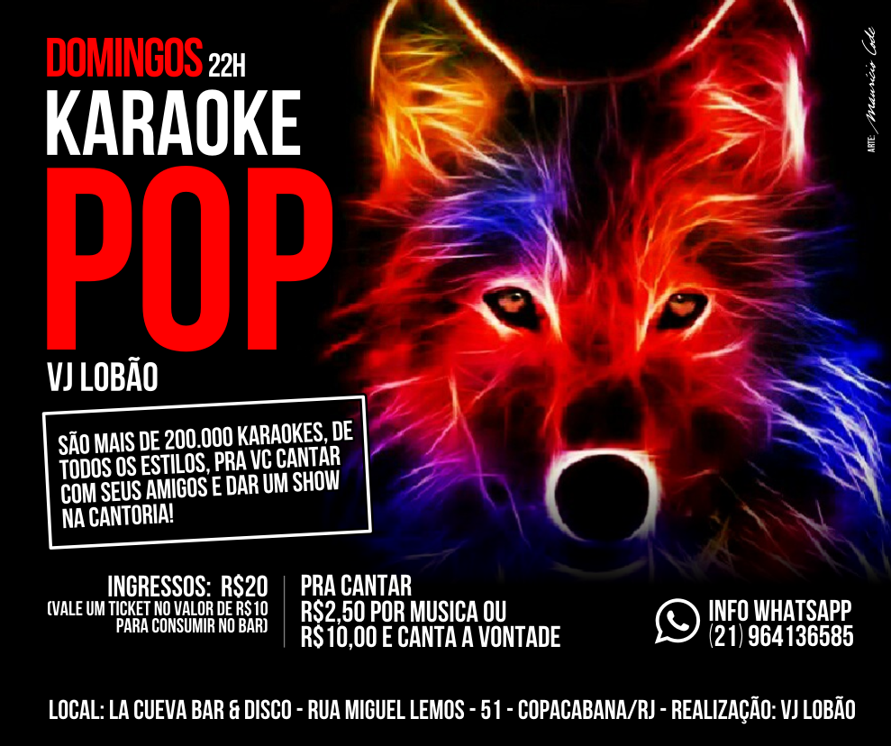 DOMINGOS - 22H - KARAOKE POP