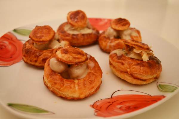 stuffed puff pastry cups
