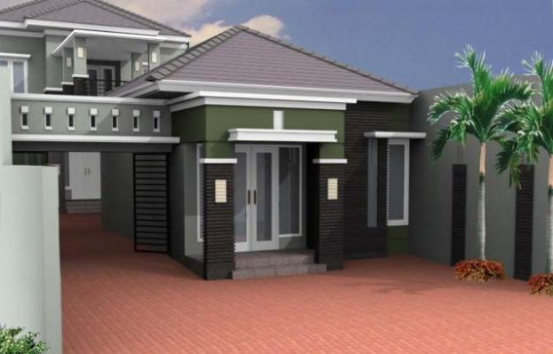 front view design of home office building home office