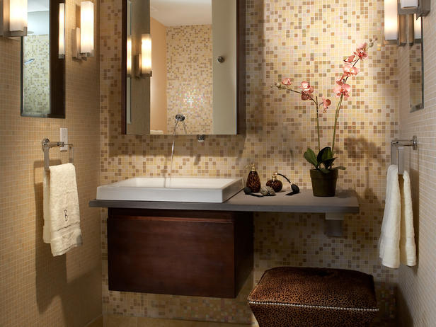 Small bathroom design ideas 2012 from hgtv home interiors for Bathroom decor 2012