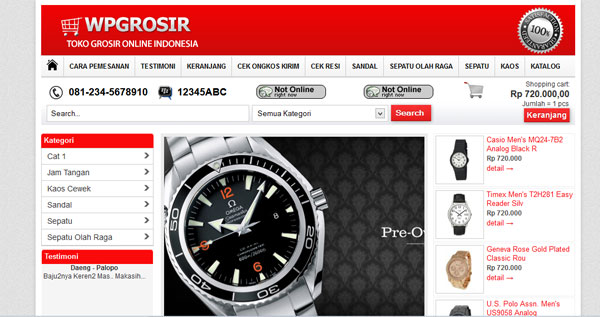 download template wpgrosir theme