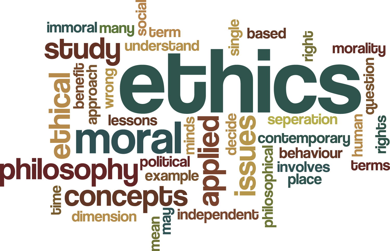 ethics of right and justice Discusses the main ethical issues and principles used when  the three primary  ethical principles cited in belmont are: autonomy, beneficence, and justice  autonomy refers to the right of an individual to determine what.