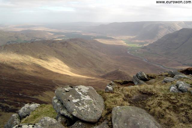 Paisaje irlandés visto desde el Ben Creggan