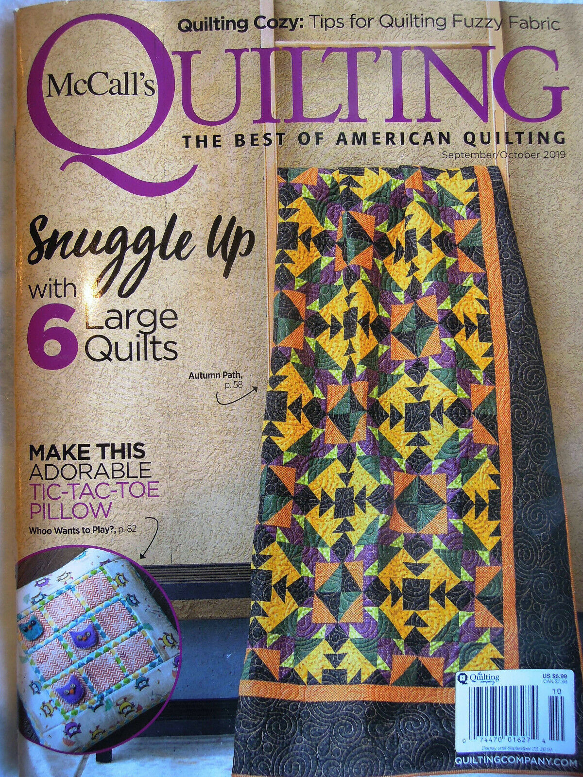 NEW! Sep-Oct 2019 McCall's Quilting (click!)