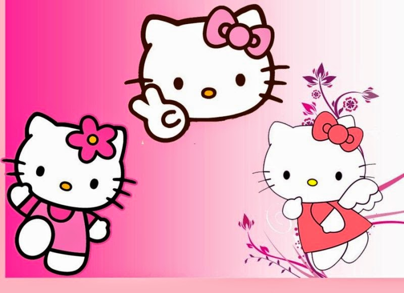 Contoh wallpaper dinding hello kitty