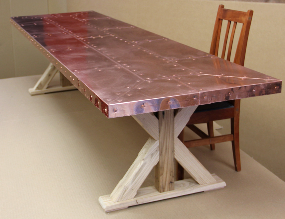 Amazing A Little More Detail ... Copper Top Table .. Claro Walnut Table