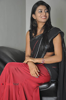 Haasika Picture Gallery in Black Saree at Prema Katha Chitram Audio Release Function  0028.jpg