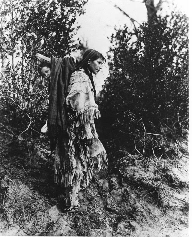 Ojibwe woman with papoose