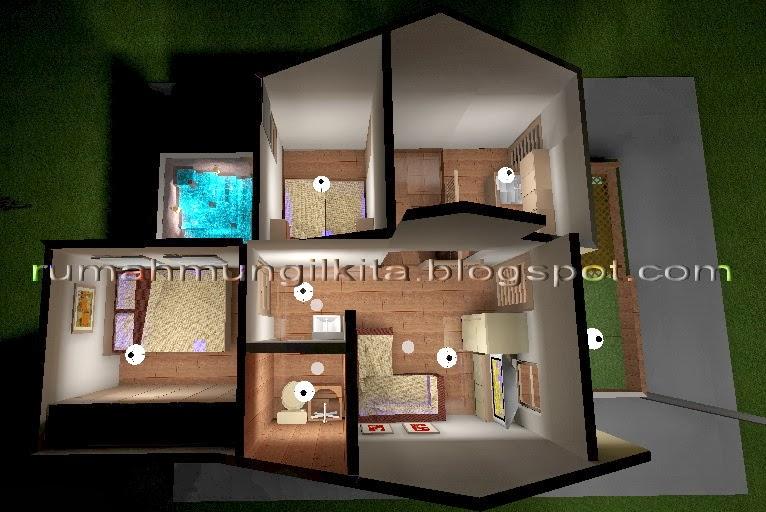 denah 3 dimensi lantai 2 renovasi sia banjir
