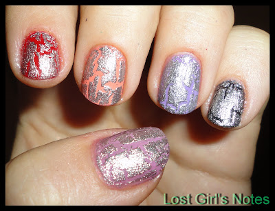OPI silver shatter swatches and review