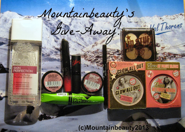 Giveaway; give-away, blog giveaway; make up giveaway, cosmetics giveaway, open internationally; soap and glory; rimmel, l'oreal, maybelline