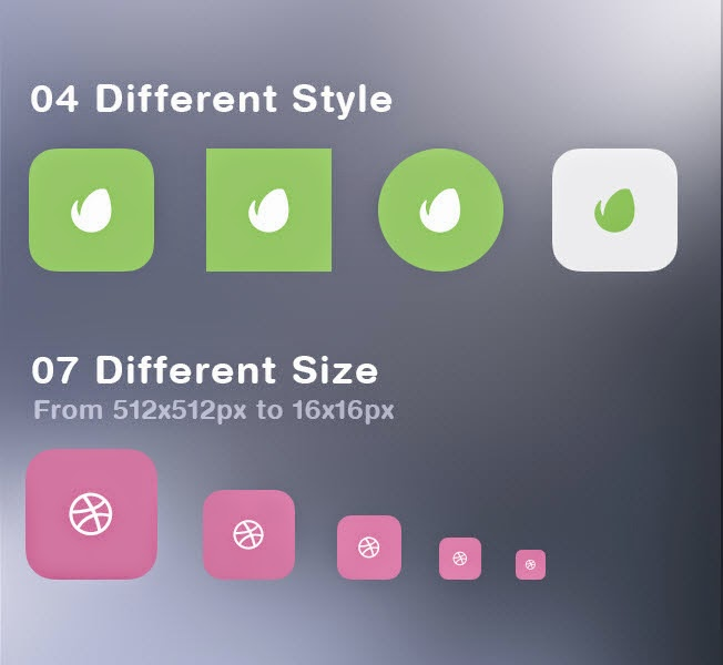 24 Free Flat Social Icons by Mohammed Alyousfi