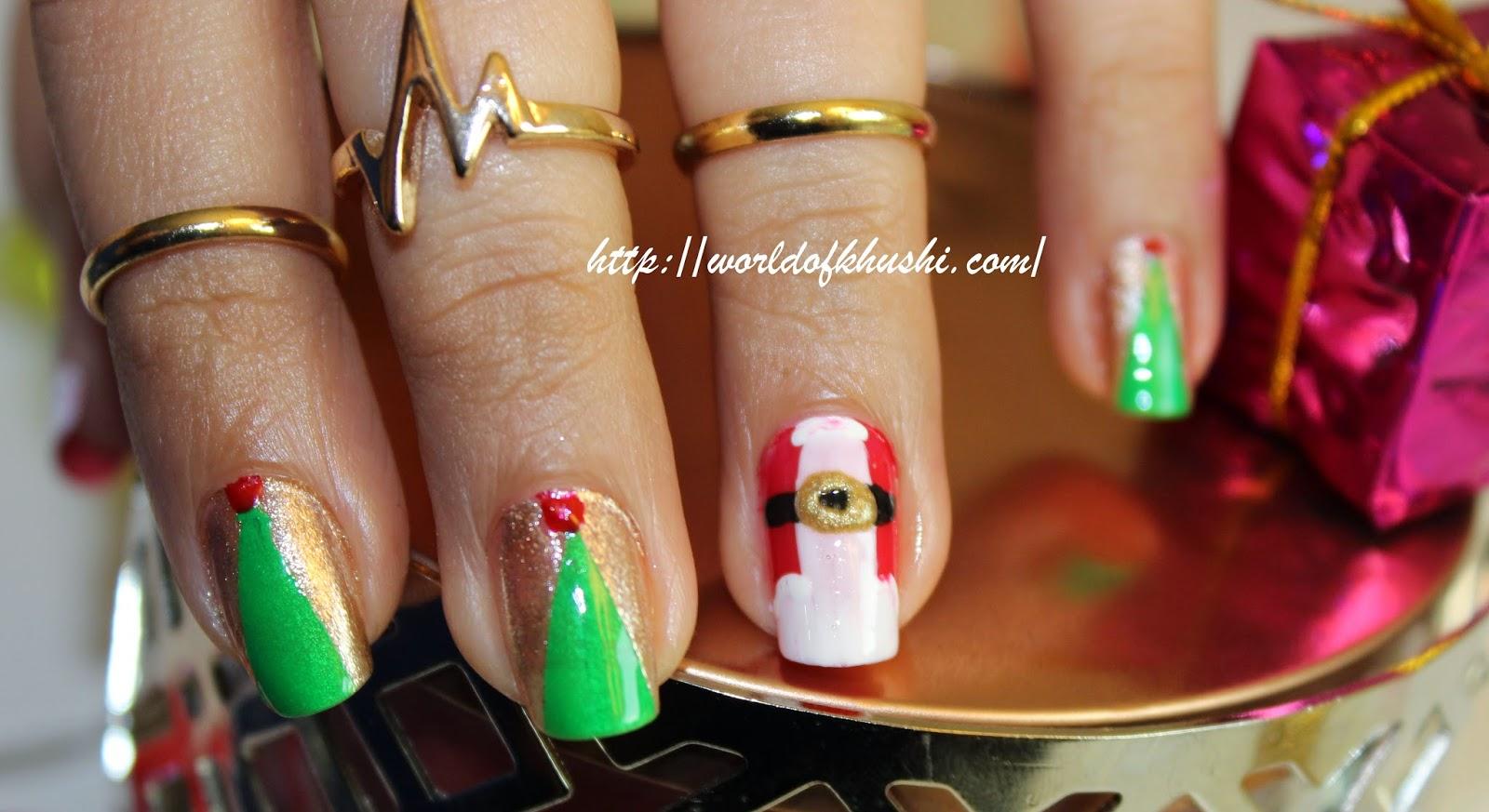 Khushiworld Christmas Special Nail Art
