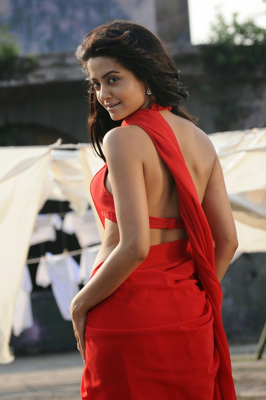 Actress Surveen Chawla Hot Back Show