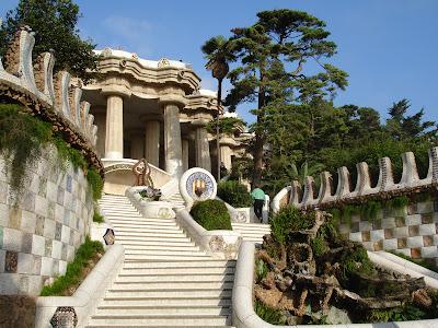 El Parque Guell en Barcelona