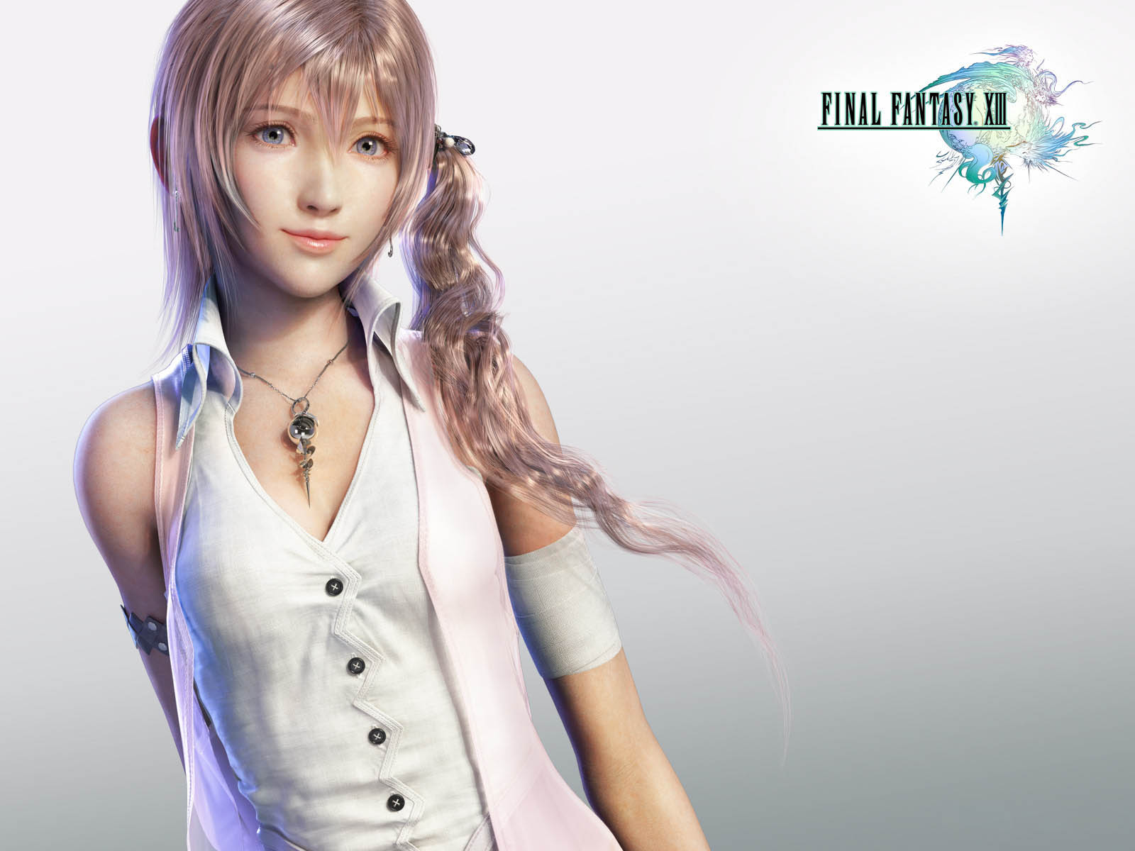 Serah from final fantasy 3d animated 3