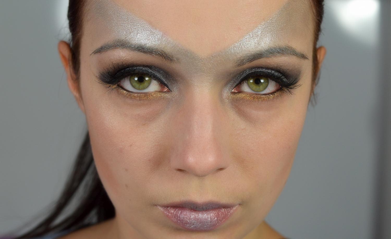 Bild eines Makeups in silber und grau