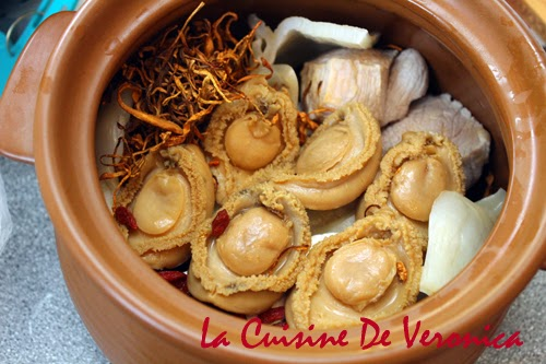 La Cuisine De Veronica 淮杞蟲草花花膠鮑魚燉瘦肉