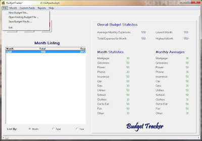 Personal budget software Microsoft windows | Budget Tracker