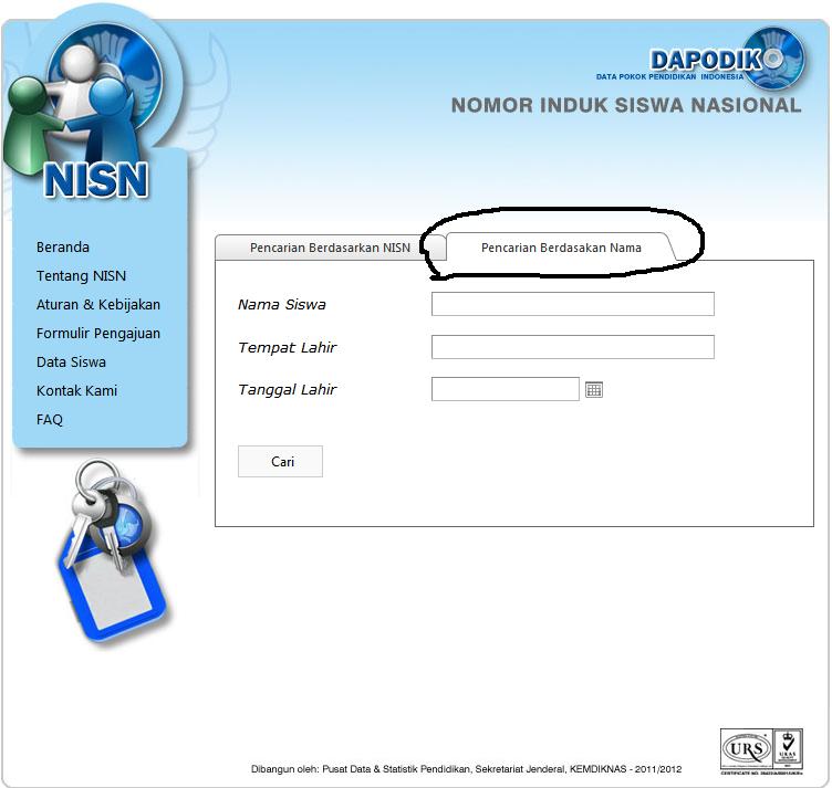 Cara mudah dan cepat mencari NISN siswa