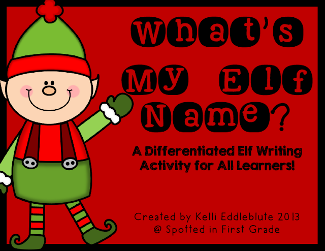 http://www.teacherspayteachers.com/Product/Whats-My-Elf-Name-A-Differentiated-Elf-Writing-Activity-999358